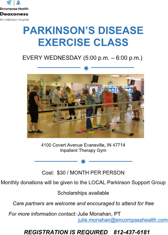 Encompass Health Parkinson's Disease Exercise Class Brochure